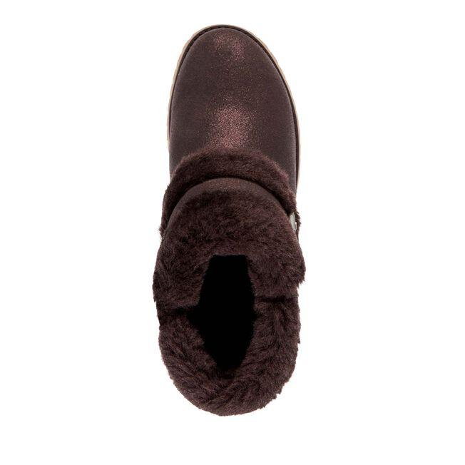 Oxley Fur Cuff Metallic, CHOCOLATE, hi-res